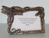 Sculpted Art Nouveau Dragonfly Picture Frame