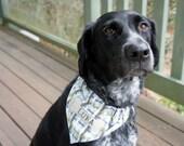 Hand-stamped Personalized Dog Bandana – Large