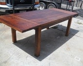 Reclaimed wood pine extension dining table.  USA made.