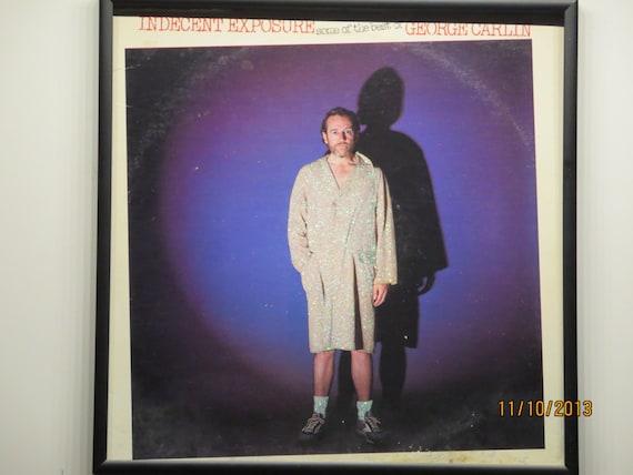 Glittered Record Album - George Carlin - Indecent Exposure