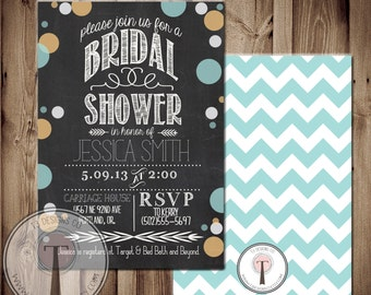 Printable Bridal Shower Invite/Bridal Shower INVITATION, 1091