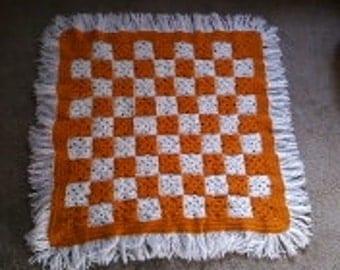 Crochet afghan Stroller Blanket, Bassinet Blanket, Baby Nursery Blanket  lot  84