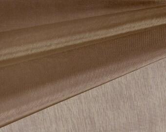 Brown Chocolate Organza Fabric by the Yard, Wedding Decoration Organza Fabric, Sheer Fabric - Style 1901