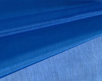 Royal Blue Organza Fabric by the Yard, Wedding Decoration Organza Fabric, Sheer Fabric - Style 1901