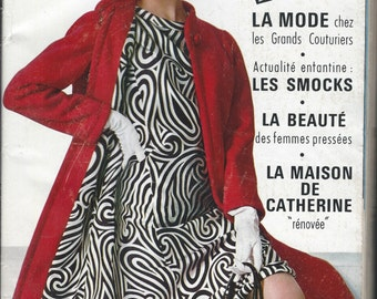 MODES et TRAVAUX 1968 fashion, home arts etc all in FRENCH, includes pattern directions
