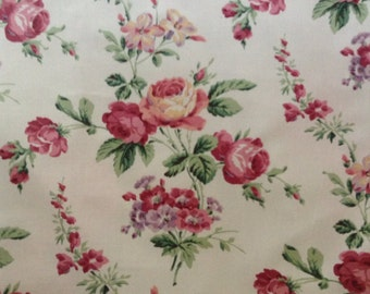 French Country Shabby Chic Chintz Roses floral Amersham fabric by Lee Jofa