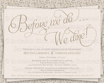 Rehearsal Dinner Invitations Samples 21st Bridal World