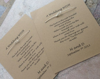 FLASH SALE Wishing Bracelet - Wedding Favor - Set of 100