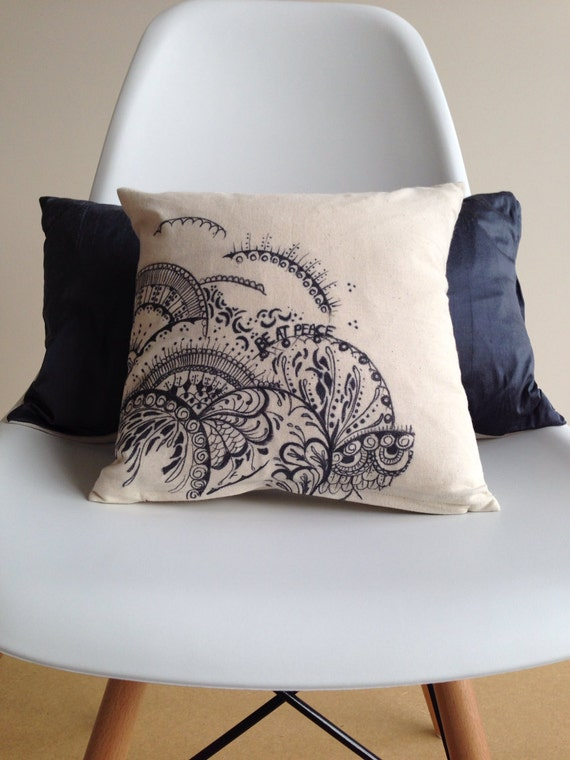 Throw Pillow Home Is Where The Doodle Is : Doodle print Pillow Covers Home Decor Decorative Pillow