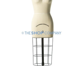 New Female Professional Dressmaker Dress Form with Collapsible Shoulders Size 2