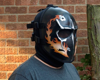 Army of Two v1 Style Airsoft Mask Flames (BD) - Made to order -