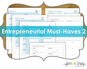 Entrepreneur Must-Haves Business Printable Pack Part 2 - INSTANT DIGITAL DOWNLOAD