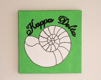 hand painted Kappa Delta mascot 12x12 canvas OFFICIAL LICENSED PRODUCT