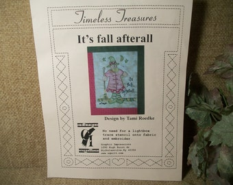 Whimsical Witch Stencil for Paper Wood and Fabric Crafts Fall Halloween Crafts Pattern by Timeless Treasures DIY Supply