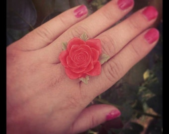 Wedding Resin Rose Flower Ring