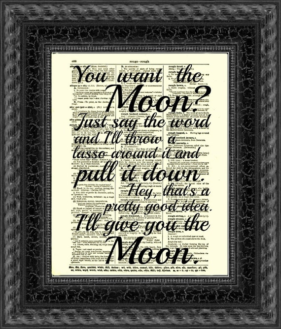 Lasso The Moon It 39 S A Wonderful Life Quote Printed On An