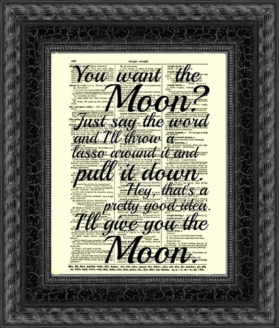 Lasso the Moon It's a Wonderful Life Quote Printed On An