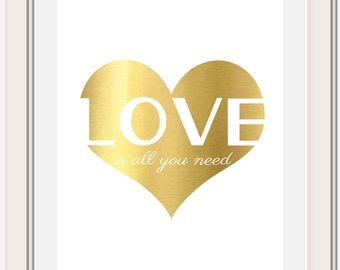 Love is all you need, Beatles, Valentine Printable
