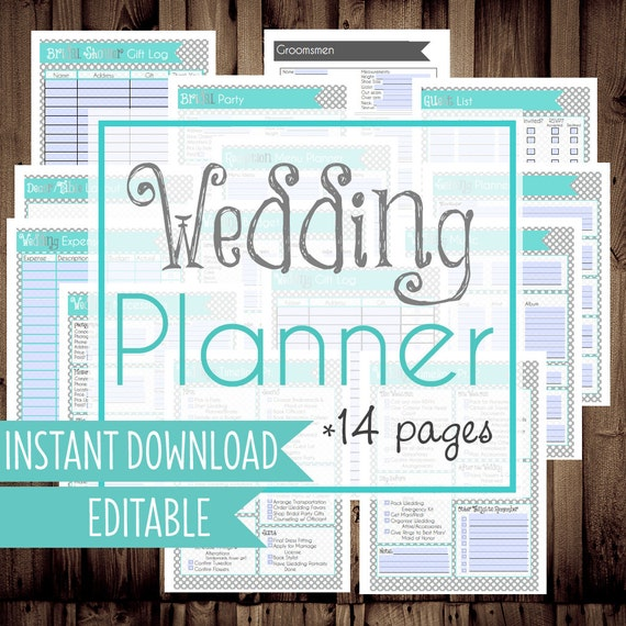 Wedding planner diy wedding binder wedding planner for Diy wedding binder templates