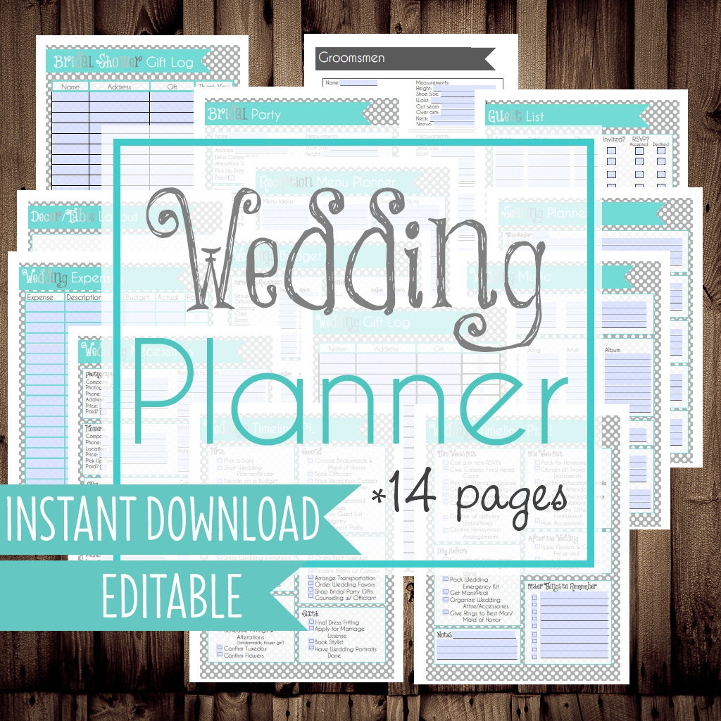 Worksheet Free Printable Wedding Planning Worksheets 50 off wedding planner diy binder by planninginspired printables letter size