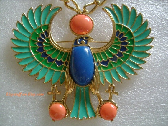 Extremely Rare Hattie Carnegie Egyptian Revival Beautiful Amp