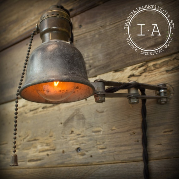 Vintage Industrial Retirement Lamp Scroll Saw Tool Light