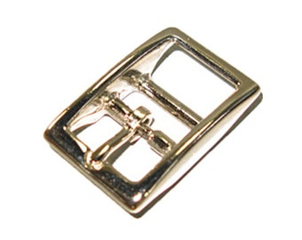 "Double Bar Buckle 1/2"" Nickel Plated"