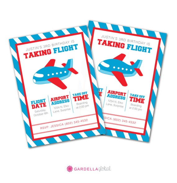 Items Similar To Airplane Birthday Invitation: Items Similar To Plane Invite, Airplane Birthday Party