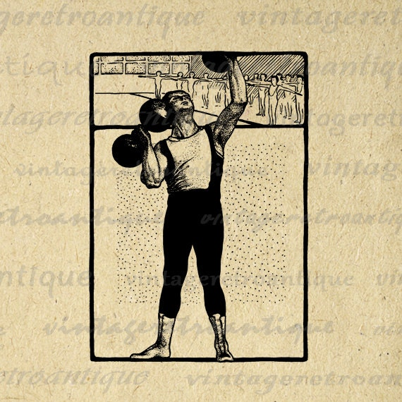 Poster Weights Etsy: Digital Printable Weight Lifting Graphic By