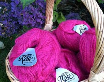 Pink / Magenta Mohair Look Yarn - Made in Norway