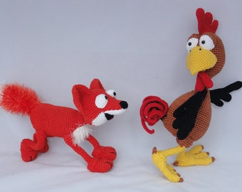 Amigurumi Crochet Pattern Set - Poultry Paul and Max the Fox