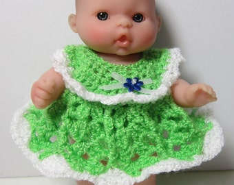 "Crochet dress for 5"" Baby Doll"
