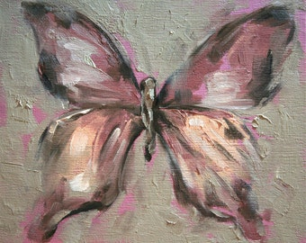 Giclee Print 8 x 10 inches - original oil painting of a butterfly by Meredith O'Neal
