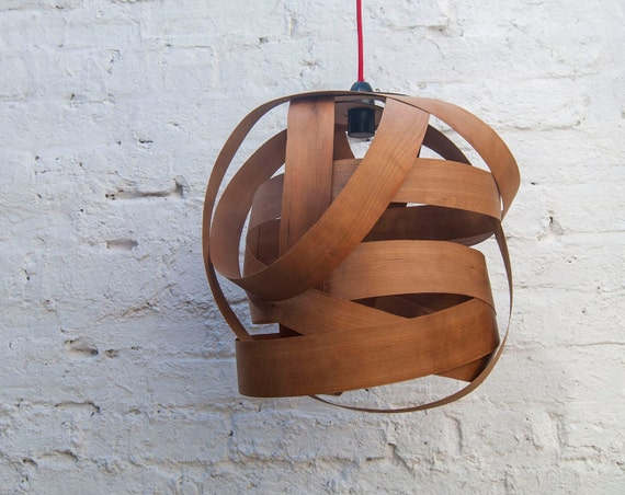 Random Large lampshade (cherry wood)
