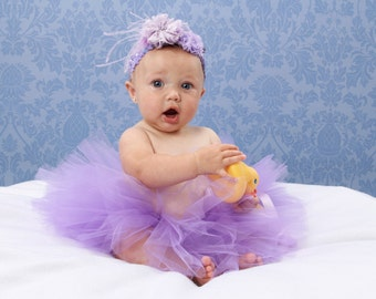 Newborn Tutu, Infant Tutu, Toddler Tutu, Lavender Tutu