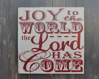 Holiday Decoration, Christmas Decor, Christmas Sign, Christmas Decoration - Joy to the World- Christmas Gift, Wood Sign