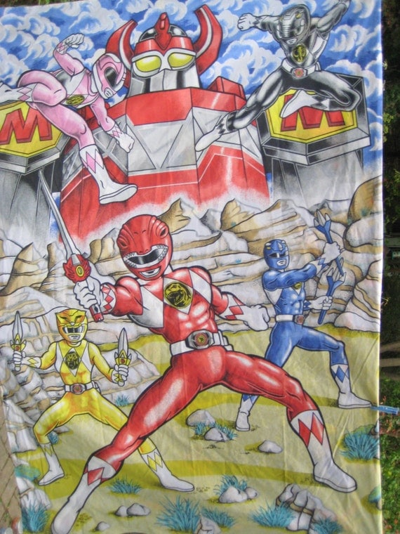 Power Rangers Bedroom: Vintage Mighty Morphin Power Rangers Bedding By Missussewnsew