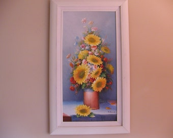 Raised Oil Painting - Sunflowers by Charles Benolt