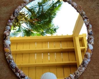 Kauai sunrise shell mirror