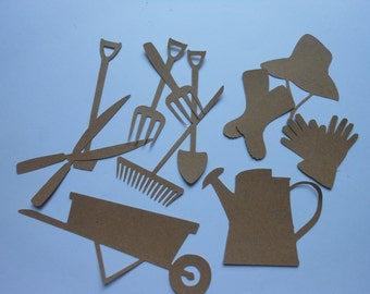 Die Cut Garden Tools -2c