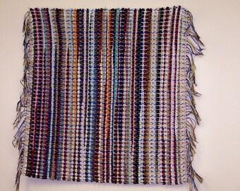 Multicolored Handwoven Rag Rug