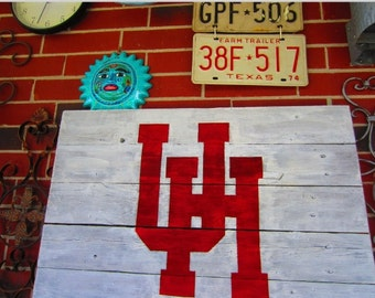 University of Houston Rustic Sign
