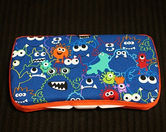 Custom Boutique Style Travel Wipe Case - Monsters