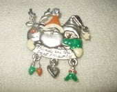 ON HOLD***Vintage Whimsical Christmas Brooch