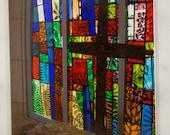 Cross, Stained Glass, Callaway Gardens Chapel, Army Veteran