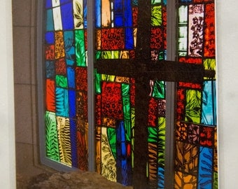 Cross, Stained Glass, Callaway Gardens Chapel, Army Veteran