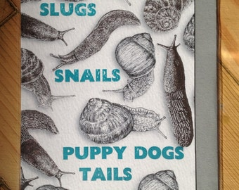 Slugs and Snails - Boys Birthday Card