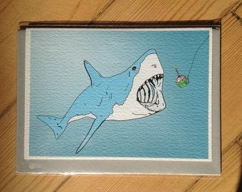 Shark Cupcake card