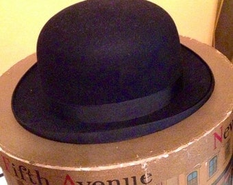Dobbs of Fifth Avenue Mens Bowler Hat and Flowery Hat