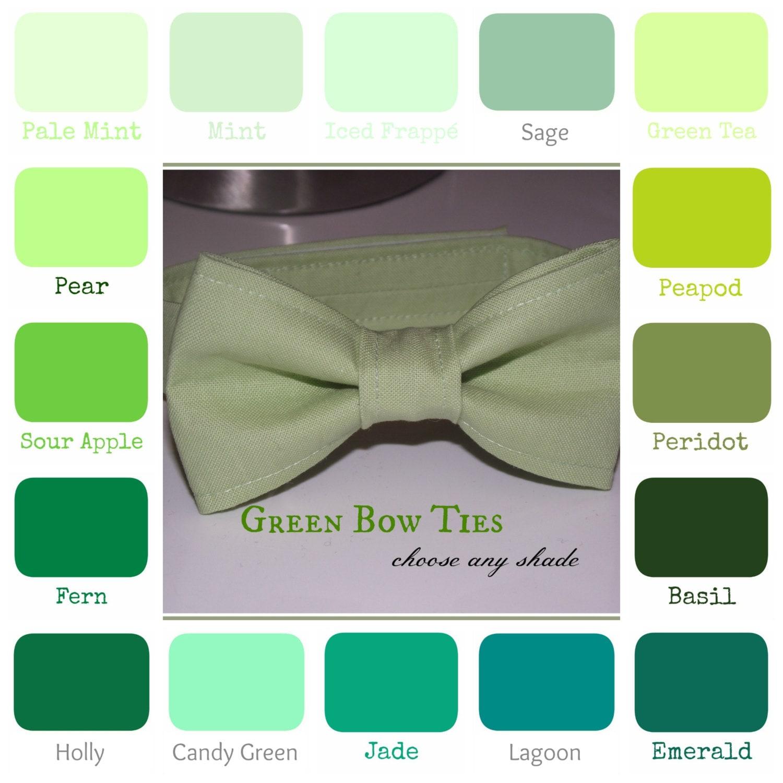 Boys Green Bow Tie Mint Sage Green Tea Emerald Jade
